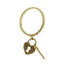 Load image into Gallery viewer, Lock & Key Charm Ring