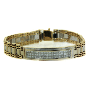 Men's Diamond ID Bracelet