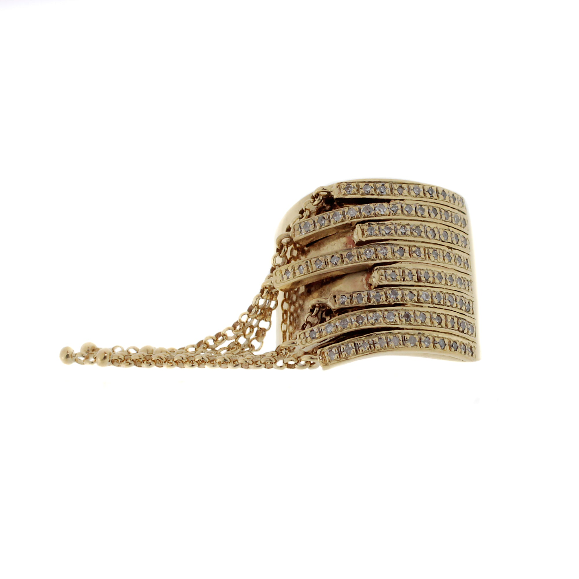 Tassel Fringe Diamond Ring