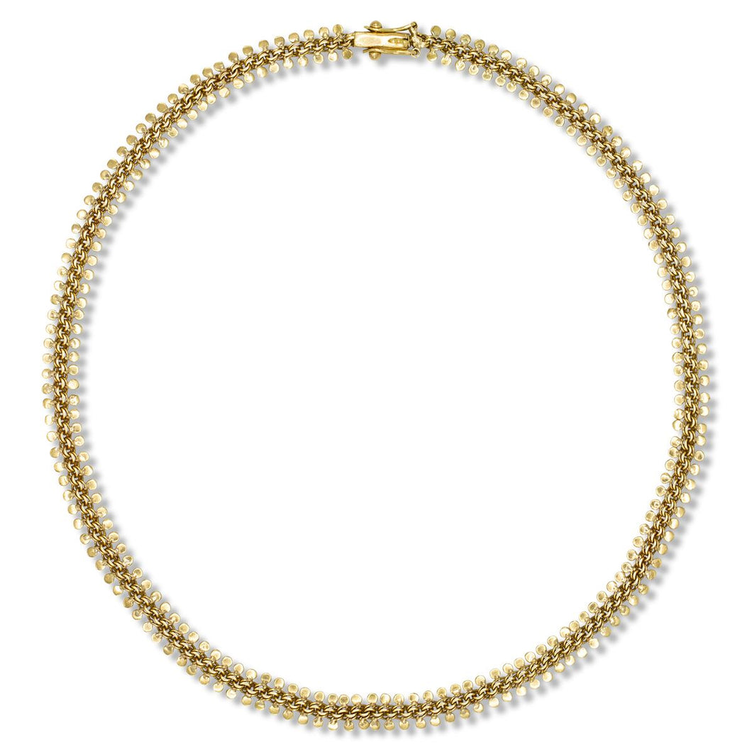 Petal Link Necklace in 18K Yellow Gold