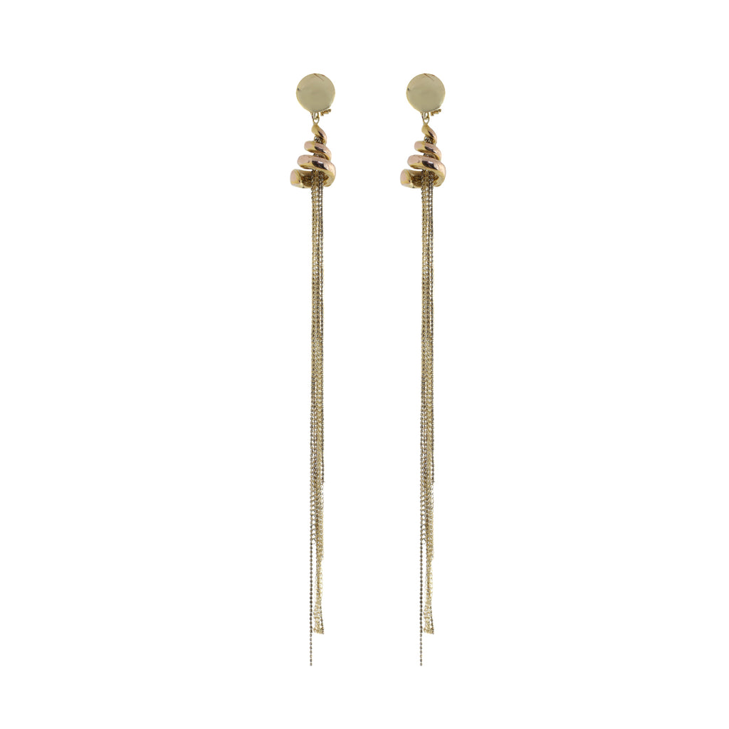 14K Tassel Drop Earrings