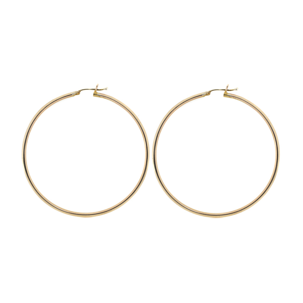Classic Round the Way Hoop Earrings