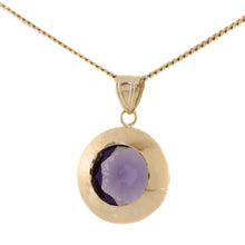Load image into Gallery viewer, Purple Sapphire Pendant Necklace