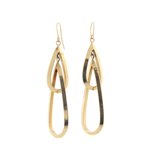 Cascading Gold Hoops in 14K Yellow Gold