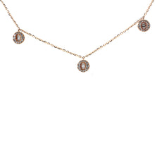 Load image into Gallery viewer, Round Baguette Station Necklace with Diamonds