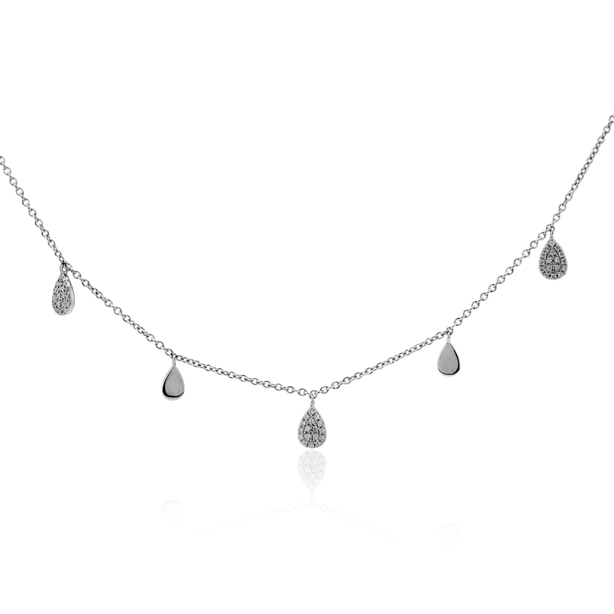 Long 18K Diamond Pave Necklace