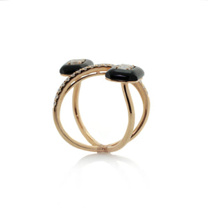 Onyx Diamond Galaxy Ring