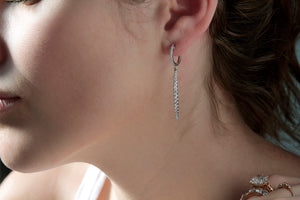 Huggy Drop Diamond Earring