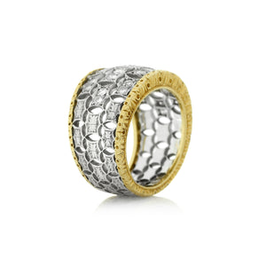Buccellati band in 18K Yellow and White Gold