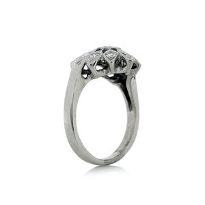 Freeform Ring in 14K White Gold