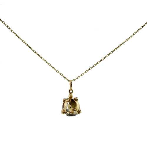 Semi-Precious Pendant in 18K Yellow Gold