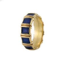 Load image into Gallery viewer, Tiffany & Co. Enamel Ring in 18K Yellow Gold