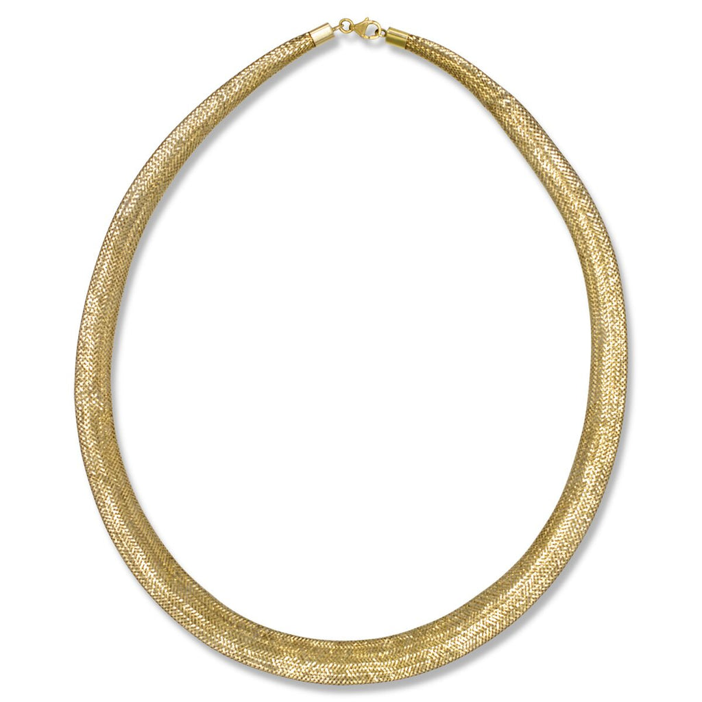 Mesh Braided Gold Necklace