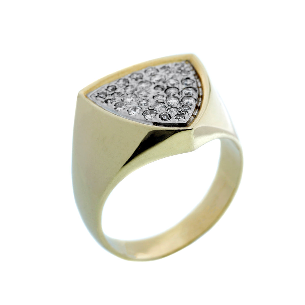 Men's Shield Pave Ring