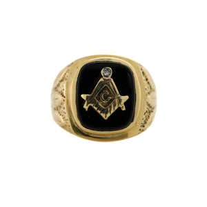 Free Mason Diamond Ring