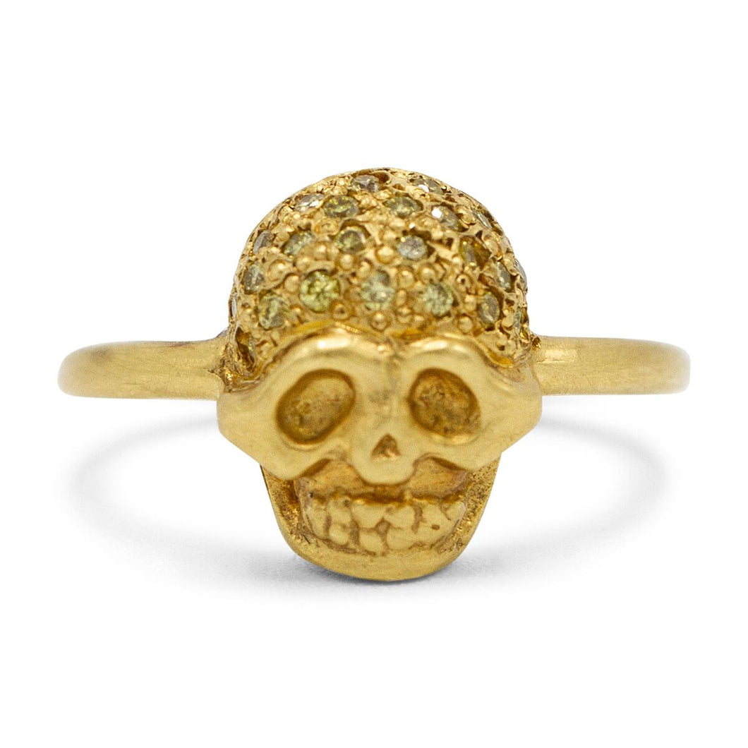 Mini Skull Head Ring