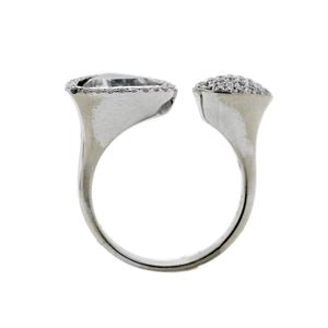 Wrap Around Ring in 18K White Gold