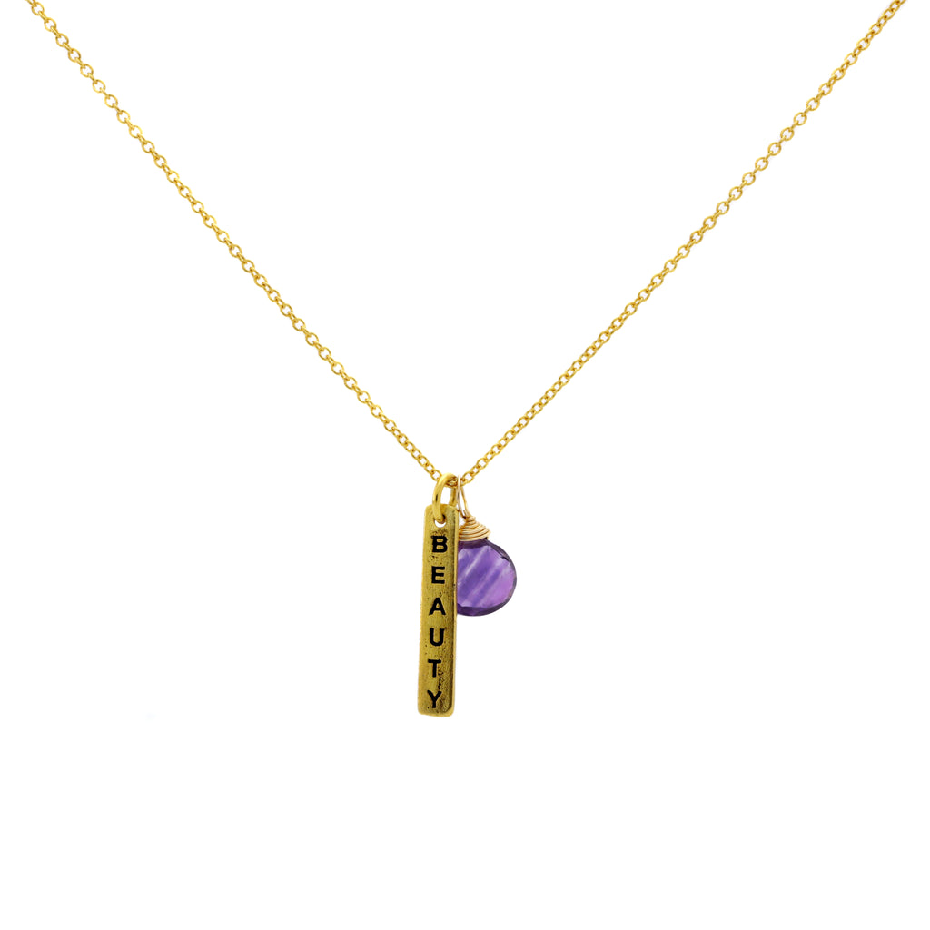 Beauty Amethyst Necklace