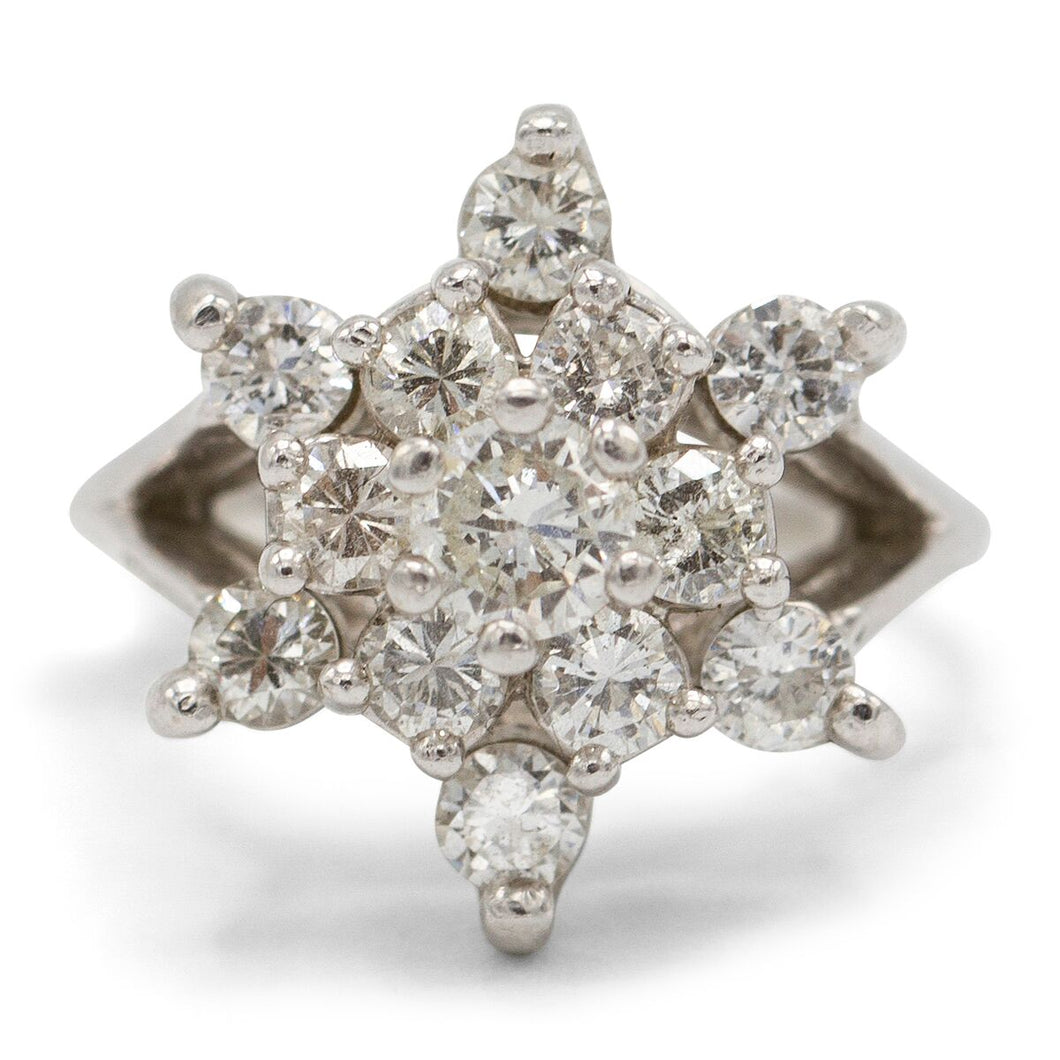 Six Point Diamond Star Ring