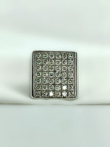 Square Men's Diamond Ring