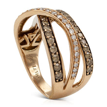 Load image into Gallery viewer, Rose Gold Diamond Cross Over Ring