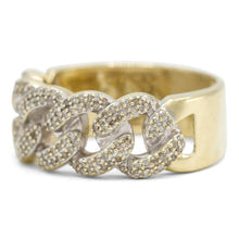 Load image into Gallery viewer, Cubano Link ring in 10K Yellow Gold