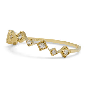 Mini Stack Diamond Ring in 10K Yellow Gold