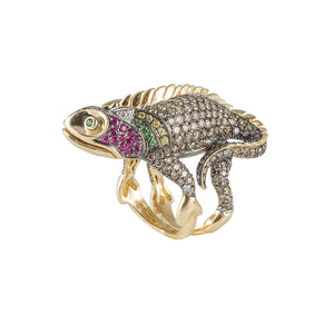 Chameleon Ring in 18K Yellow Gold