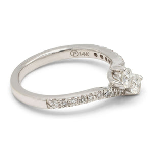 Two-Stone Diamond Bypass Ring