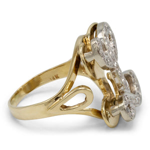 """L"" Initial Ring in 14K Yellow Gold"