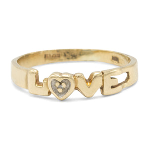 "Two Tone ""Love"" Ring"