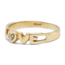 "Load image into Gallery viewer, Two Tone ""Love"" Ring"