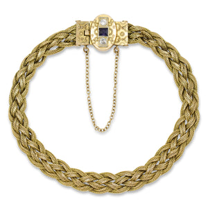 Antique Late 19th Century Bracelet in 14K Yellow Gold