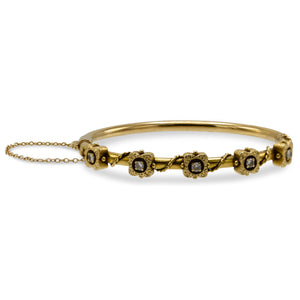Vintage Diamond Tube Bracelet