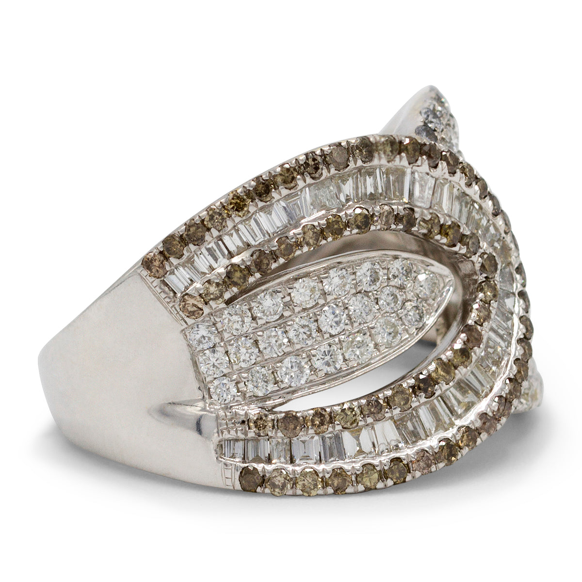 Diamond Pave Buckle Ring