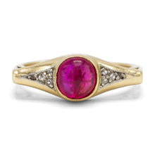 Load image into Gallery viewer, Art Nouveau Ruby Ring in 14K Yellow Gold