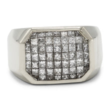 Load image into Gallery viewer, Men's Square Cluster Ring