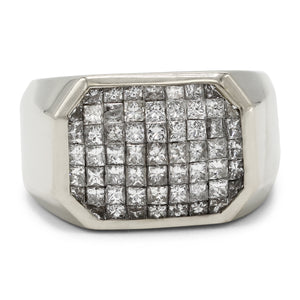 Men's Square Cluster Ring