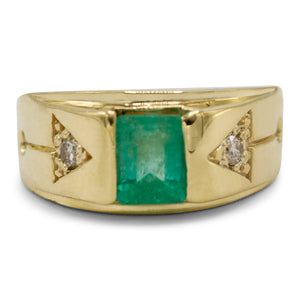 Men's Emerald Diamond Ring