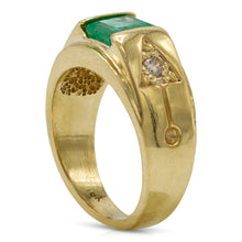 Load image into Gallery viewer, Men's Emerald Diamond Ring