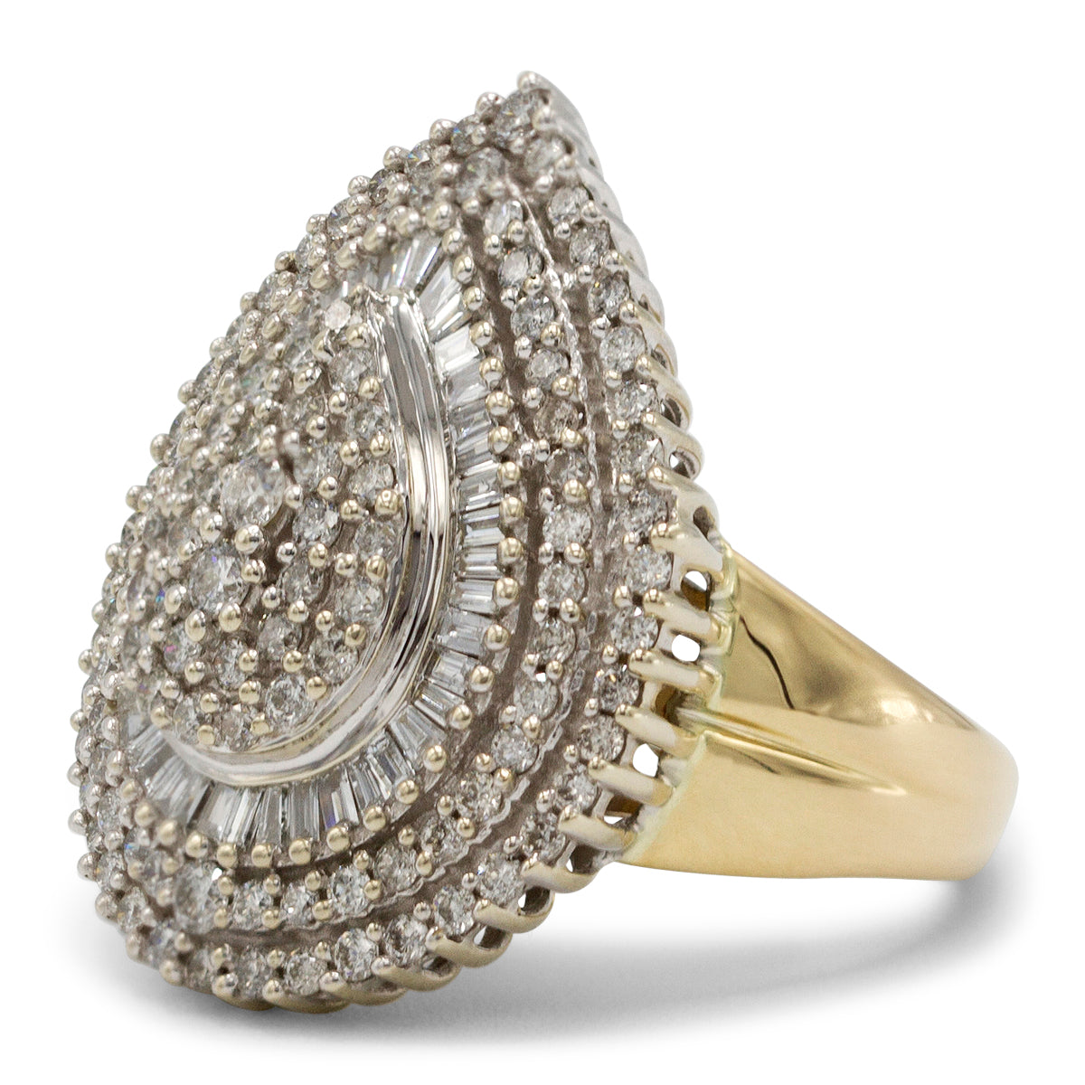 Pear Shaped Cluster Diamond Ring