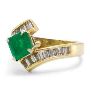 Emerald Cascading Ring