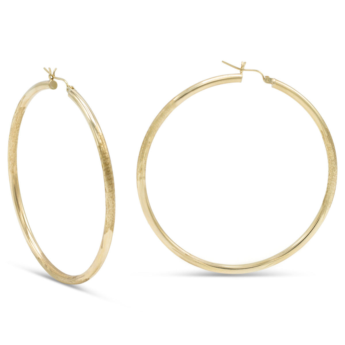 Merry Go Round Gold Hoops