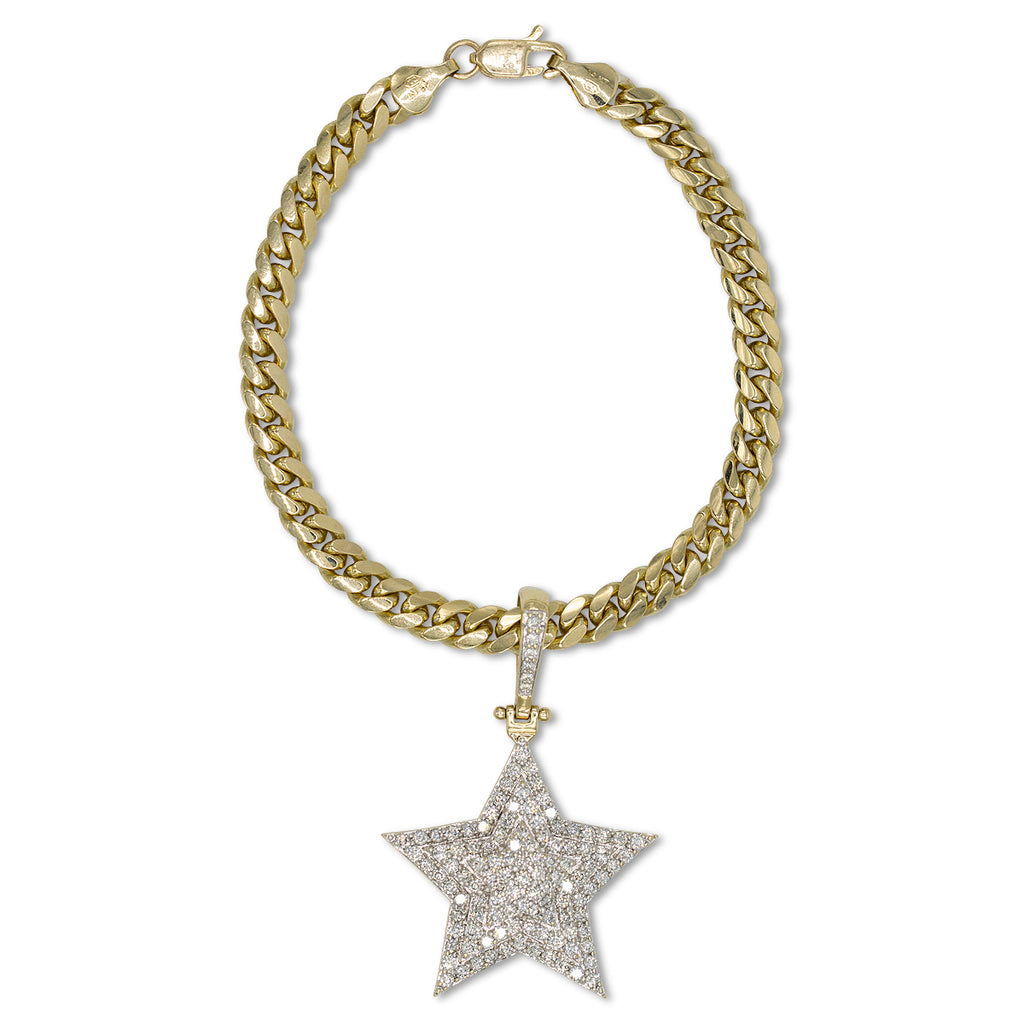 Diamond  Star Pendant Bracelet