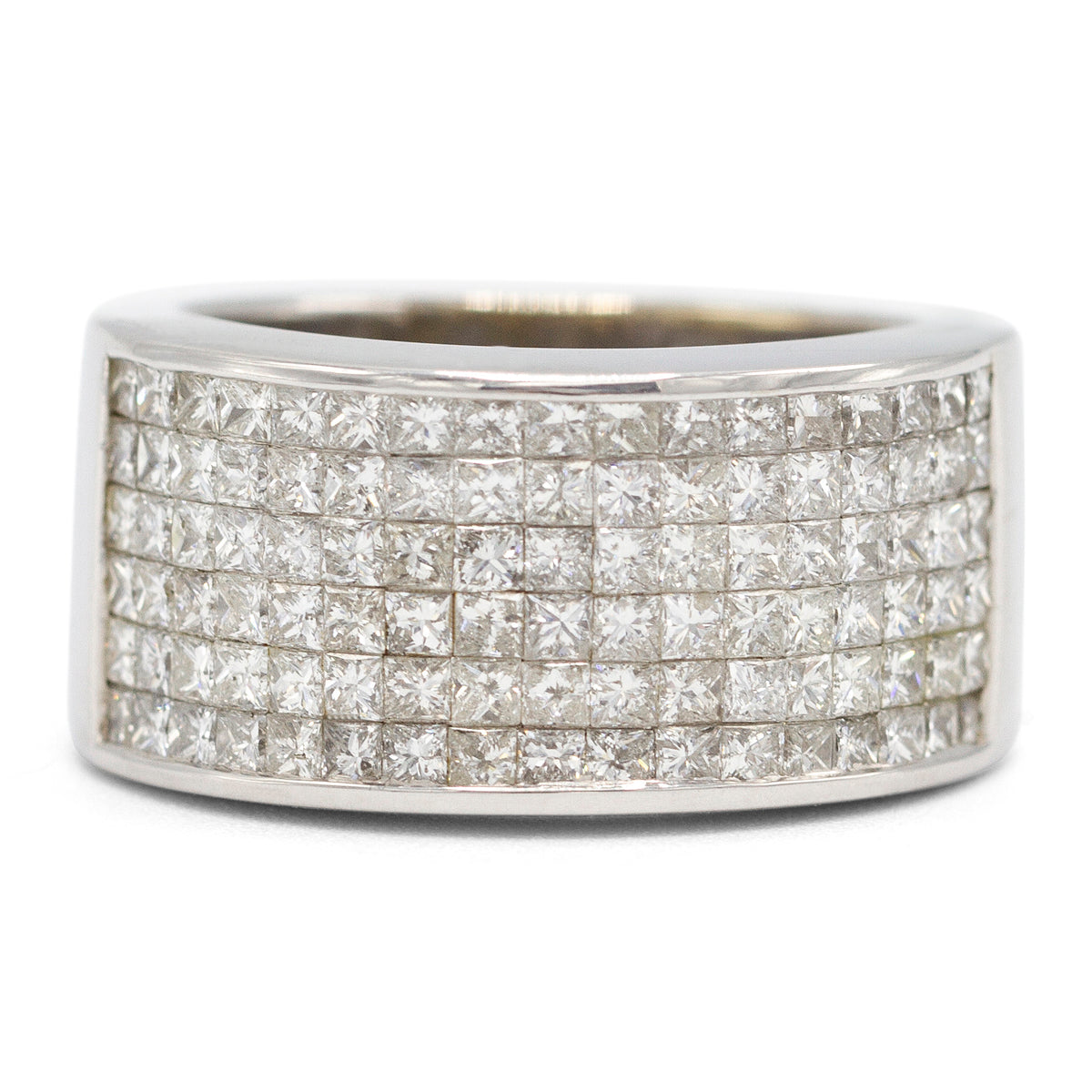 Men's Princess Cut Pave Ring