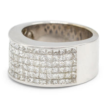 Load image into Gallery viewer, Men's Princess Cut Pave Ring