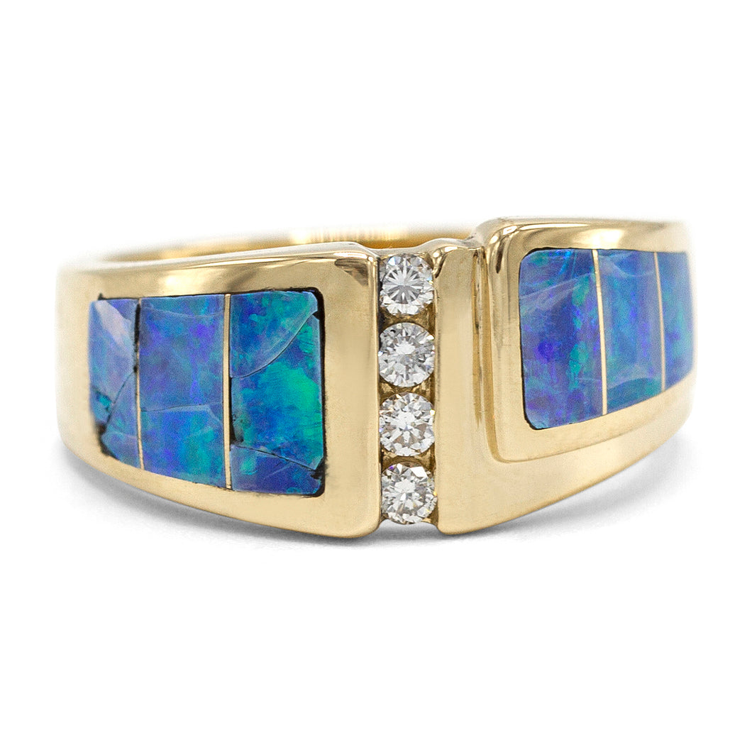 Retro Opal & Diamond Ring