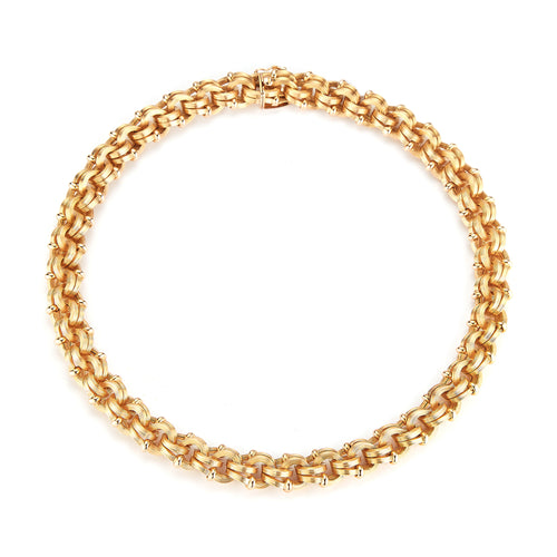 Double Loop Chain Link Necklace