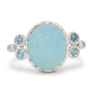 Light Blue Bubble Stone Ring