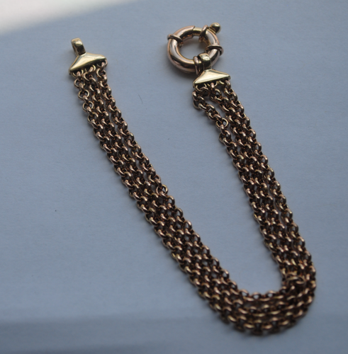Triple Chain Rollo Bracelet